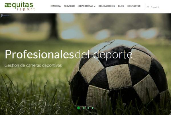 Aequitas Isport Diseño web