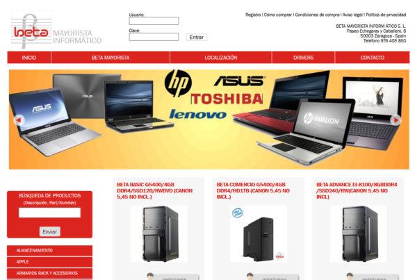 Diseño web Betamayorista