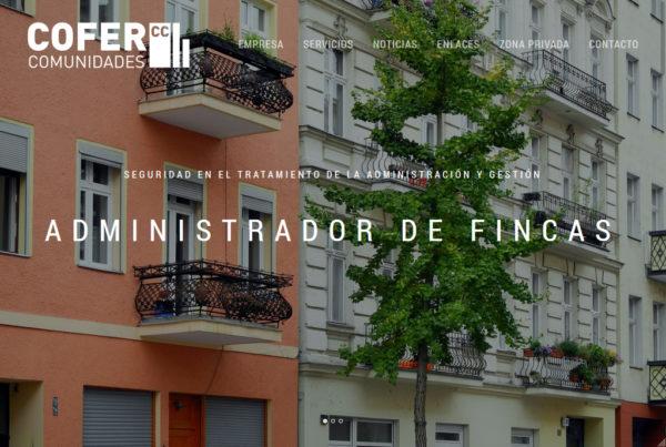 COFER Comunidades Diseño web