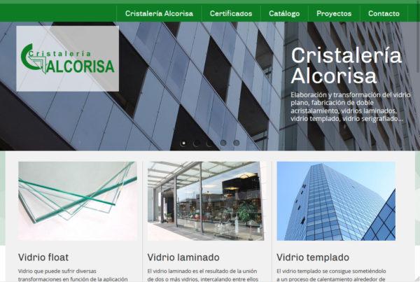 Diseño web Cristalería Alcorisa