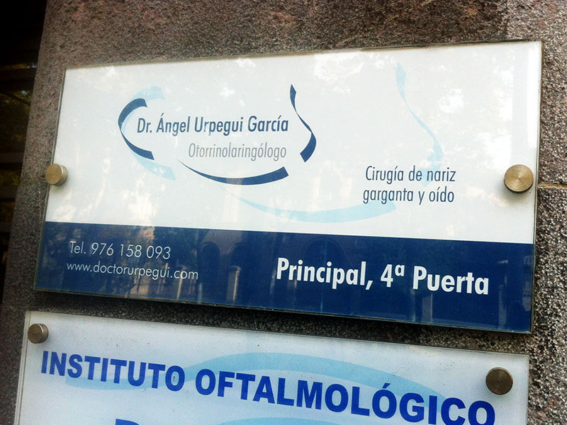 Placa Otorrinolaringólogo