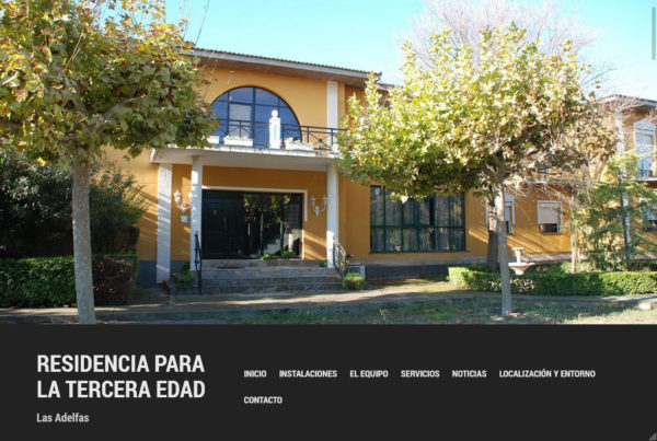 Residencia Las Adelfas Diseño web