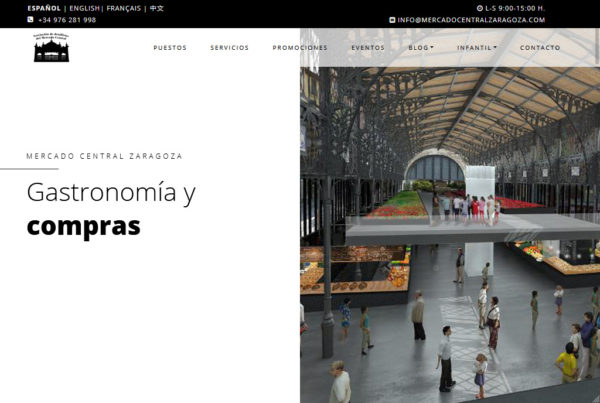 Mercado Central Diseño Web