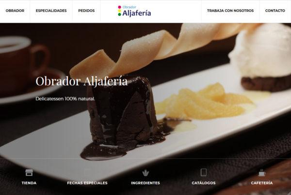 Diseño web Obrador Aljafería