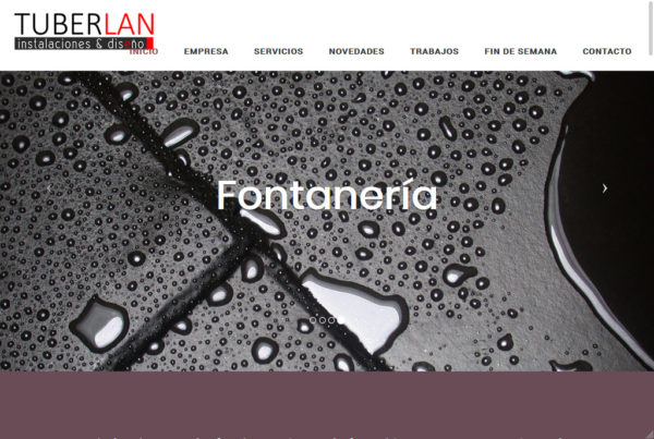 Diseño web Tuberlan