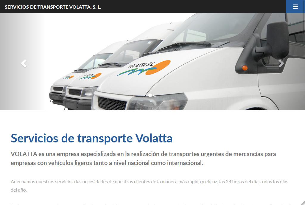 Transportes Volatta Diseño Web