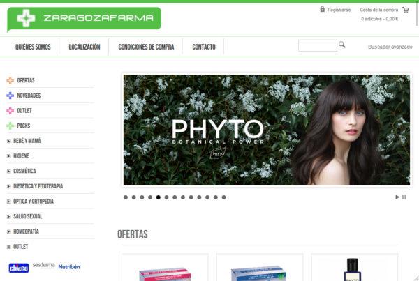 Zaragozfarma Diseño web