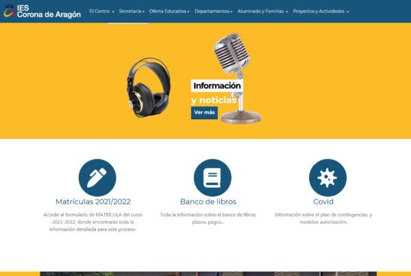 Diseño web IES CORONA